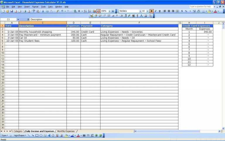 Household Budget Worksheet Also Sample Personal Bud Spreadsheet New Daily Expense Tracker
