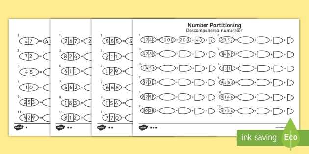 Hundreds Tens and Ones Worksheets Along with Hundreds Tens and Es Number Partitioning Worksheet Activity