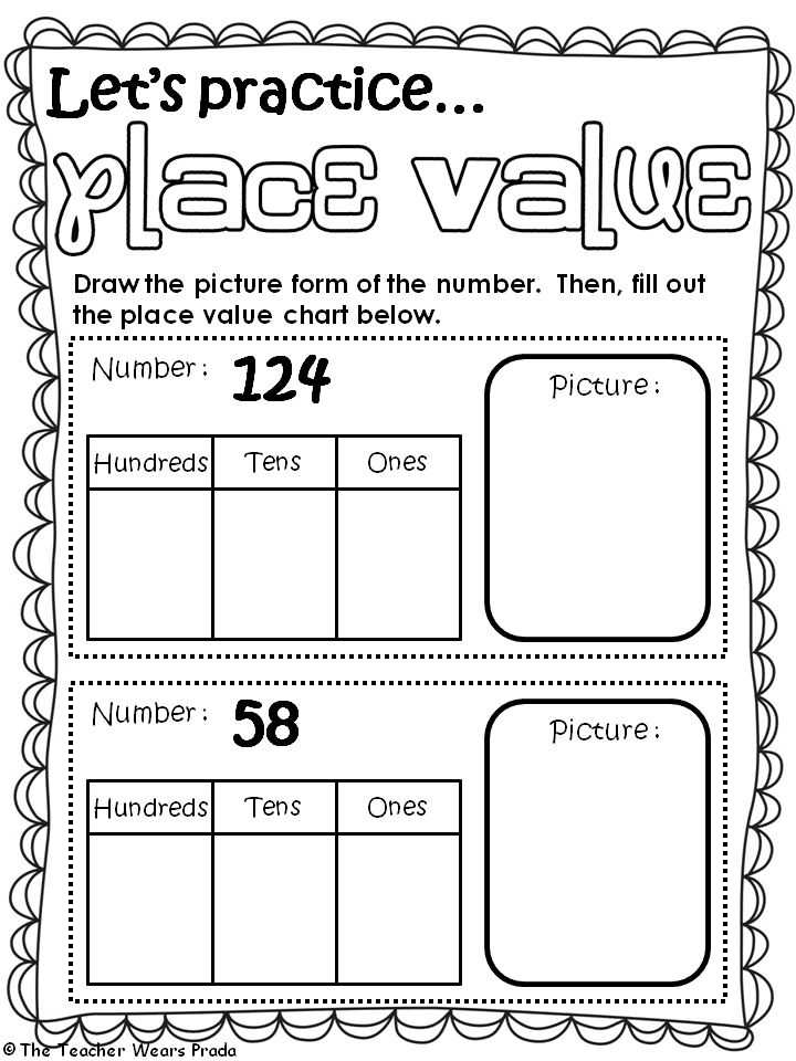 Hundreds Tens and Ones Worksheets together with 14 Best Math Place Value Images On Pinterest