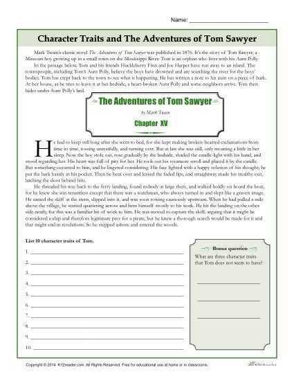 Identifying Character Traits Worksheet Along with Character Traits Worksheets