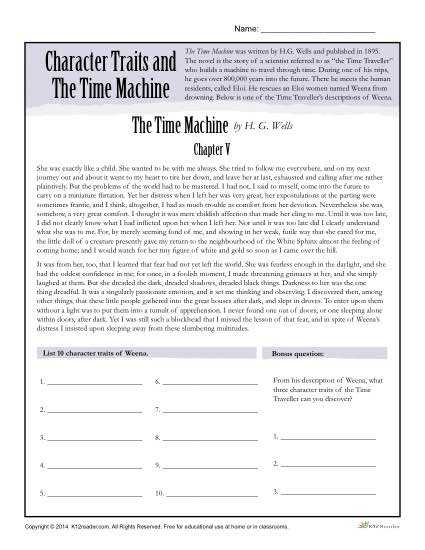 Identifying Character Traits Worksheet together with Character Trait Worksheet the Best Worksheets Image Collection
