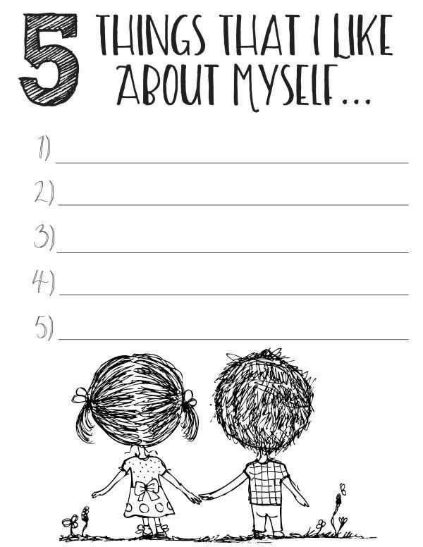 Impulse Control Worksheets Printable as Well as Free Printable Self Esteem Worksheets