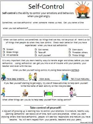 Impulse Control Worksheets Printable with 778 Best Counseling Worksheets Printables Images On Pinterest