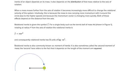 Inertia Worksheet Middle School and More On Moment Of Inertia Video