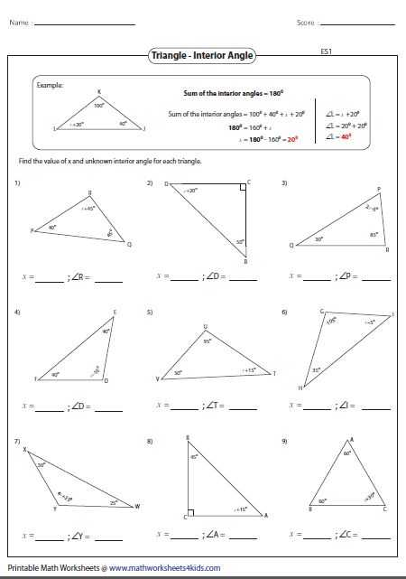 Interior Angles Worksheet as Well as 922 Best Geometria Images On Pinterest