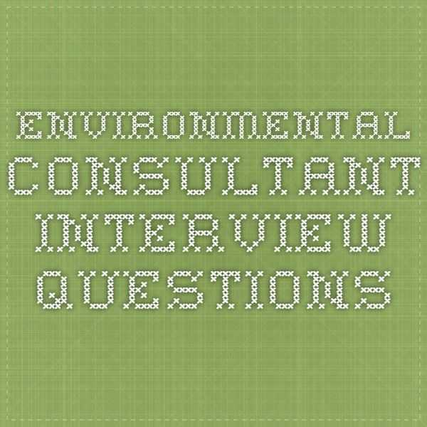 Interview Worksheet for Students Along with Environmental Consultant Interview Questions Motivation
