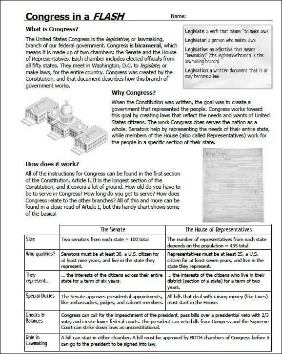 Judicial Branch In A Flash Worksheet Answers and How A Bill Be Es A Law Worksheet Free Printable Worksheets