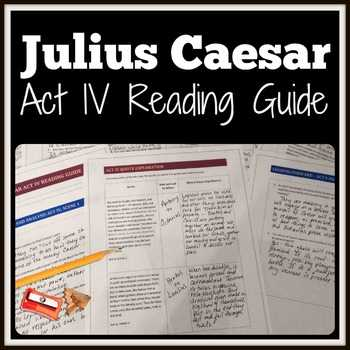Julius Caesar Vocabulary Act 1 Worksheet Answers as Well as Julius Caesar Act 4 Teaching Resources