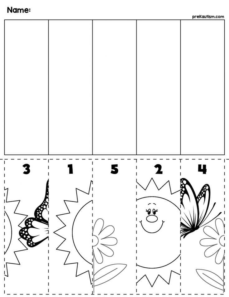 Kindergarten Activities Worksheets Also 867 Best Układanie Obrazka Od 1 10 I Wiecej Images On Pinterest