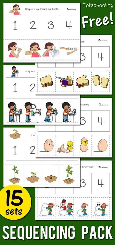 Kindergarten Separation Anxiety Worksheets Along with Sequencing Activity Pack