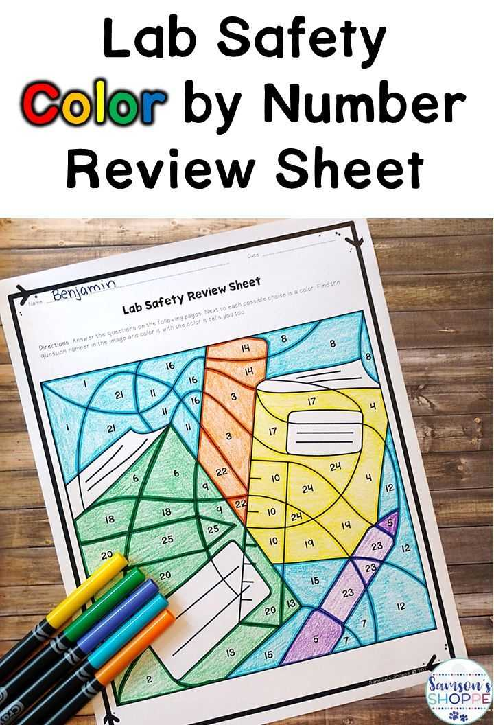 Laboratory Equipment Worksheet or Lab Safety Color by Number Review Activity