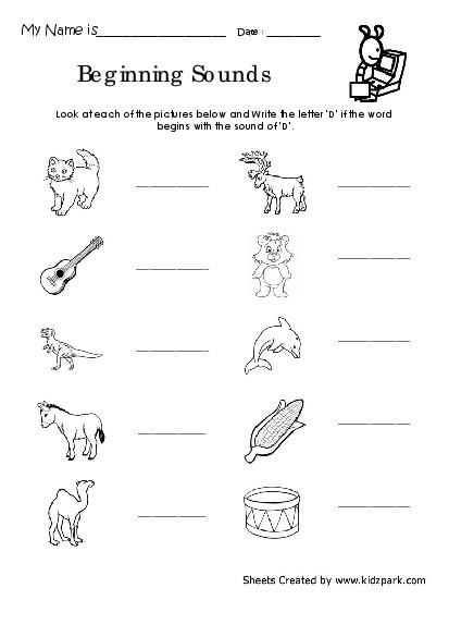 Letter D Preschool Worksheets and Preschool Worksheets