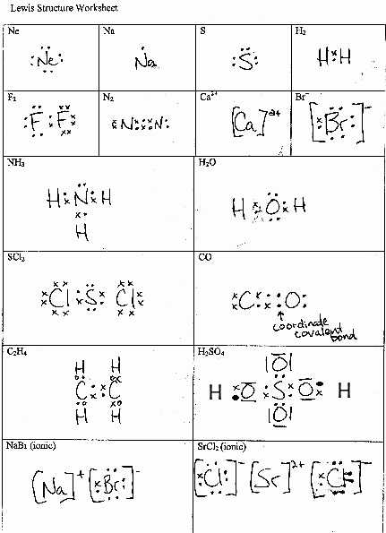 Lewis Structure Worksheet 1 Answer Key with Lewis Dot Diagram Worksheet Answers New Electron Dot Structures