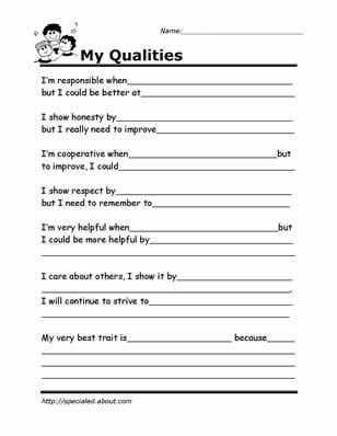 Life Skills Worksheets for Adults or Printable Worksheets for Kids to Help Build their social Skills