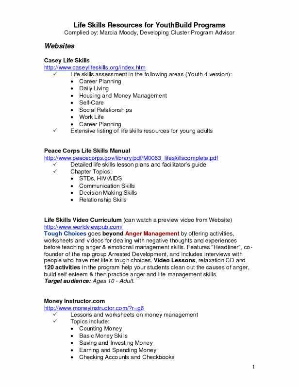 Life Skills Worksheets for Adults Pdf together with Kids Free Printable Life Skills Worksheets Life Skills Worksheets