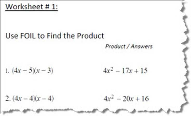 Linear Quadratic Systems Worksheet together with Using Foil to solve Algebra Equations