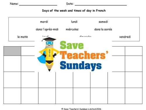 Linguascope Worksheet Answers Spanish together with Middle School French Resources Days Dates Months Seasons
