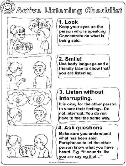 Listening Skills Worksheets or 69 Best Listening Images On Pinterest