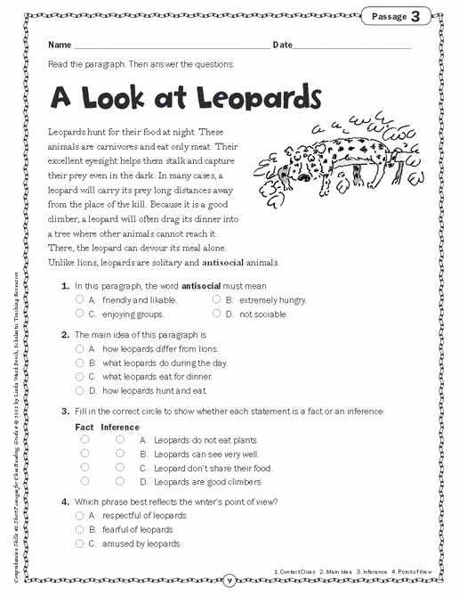 Main Idea Worksheets Pdf and Finding the Main Idea Worksheets Inspirational Prehension Skills