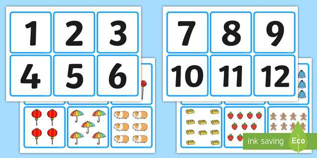 Matching Numbers Worksheets with 1 20 Number and Quantity Matching Cards Numeracy Numbers