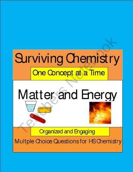 Matter and Energy Worksheet Also Matter and Energy Engaging Multiple Choice Question Sets for Hs
