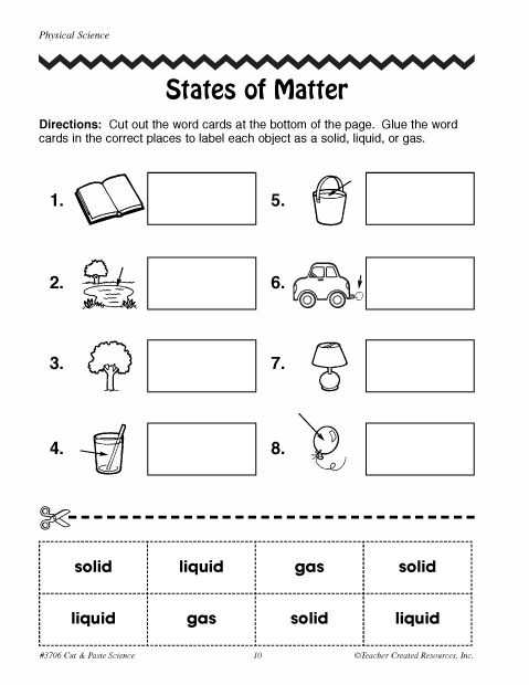 Matter and Energy Worksheet or 27 Best State Of Matter solid Liquid Gas Images On Pinterest