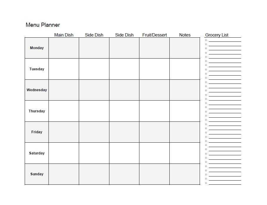 Meal Planning Worksheet and Family T Planner Guvecurid