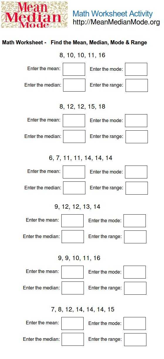 Mean Median Mode Range Worksheets with Answers with 174 Best Mean Median Mode Range Images On Pinterest