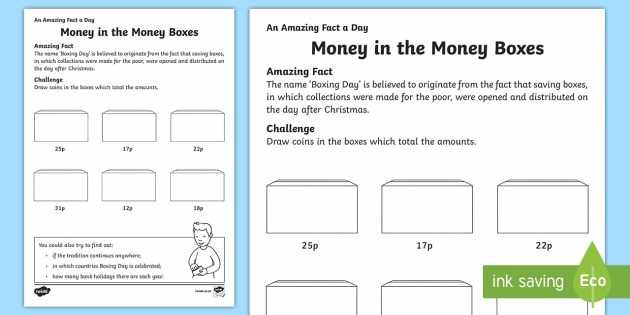 Medication Management Worksheets Activities with British Money In the Money Boxes Worksheet Activity Sheet