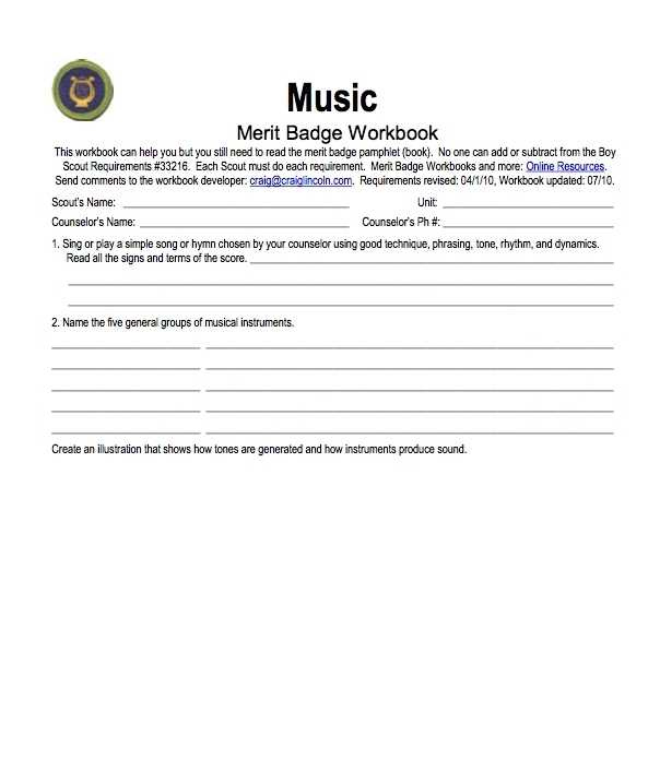 Merit Badge Worksheets Also Resume