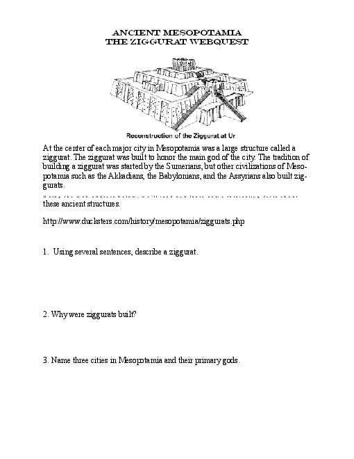 Mesopotamia Reading Comprehension Worksheets with Ancient Mesopotamia Worksheet the Best Worksheets Image Collection