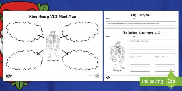 Mind Map Worksheet Also Henry Viii Mind Maps and Activity Sheets Tudors Henry Viii