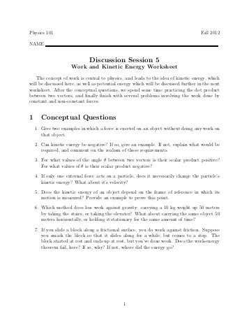Momentum and Collisions Worksheet Answers or Momentum Worksheet Faculty