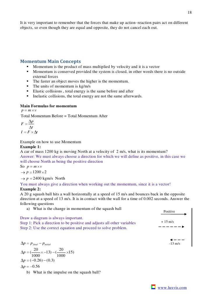 Momentum and Collisions Worksheet Answers with Action Reaction Worksheet Worksheets for All