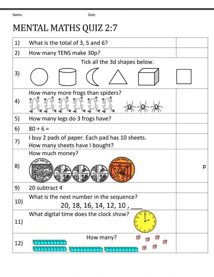 Monetary Policy Worksheet Answers Along with Mental Math 4th Grade Regarding Worksheets for with Answers Year Y7
