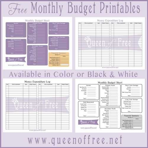 Monthly Budget Worksheet Printable Also Free Printable Bud forms