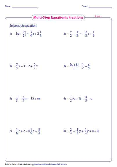 Multi Step Equations Worksheet as Well as solving Multi Step Equations Worksheet