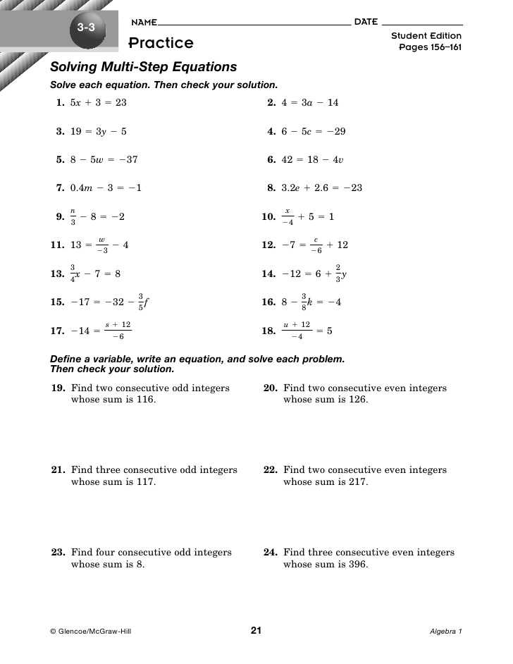 Multi Step Equations Worksheet Variables On Both Sides as Well as Best solving Equations with Variables Both Sides Worksheet