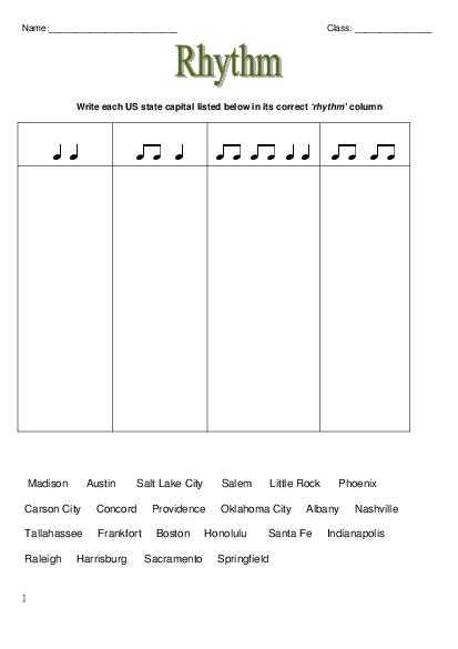Music Worksheets for Middle School and Music theory Rhythm Worksheets Worksheets for All