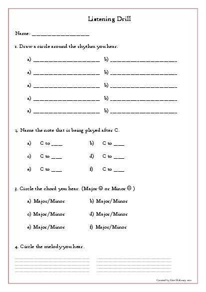 Music Worksheets for Middle School and Stanigcew 36 S soup