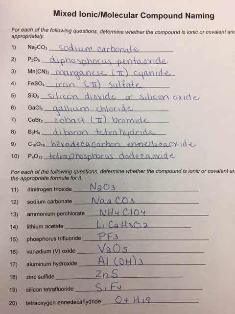 Names and formulas for Ionic Compounds Worksheet Also Lovely Naming Ionic Pounds Practice Worksheet Beautiful Naming
