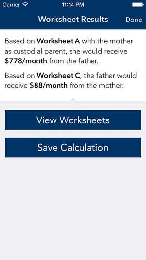 Nc Child Support Worksheet Along with south Carolina Child Support Calculator On the App Store