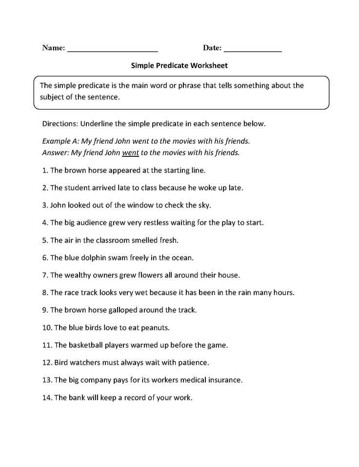 Noun Verb Sentences Worksheets or 12 Best Subject Predicate Images On Pinterest