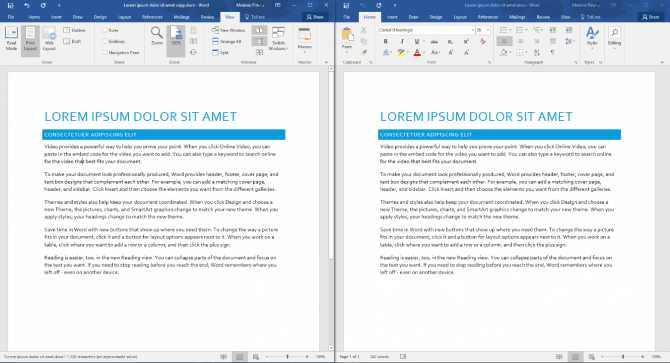 Office 365 Cost Comparison Worksheet as Well as How to Pare Documents Side by Side In Word 2016