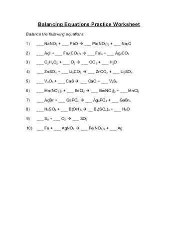 Oxidation Reduction Reactions Worksheet and Balancing Redox Equations Worksheet Oxidation Number Method