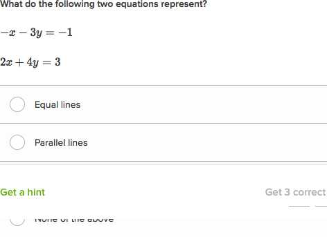 Parallel and Perpendicular Lines Worksheet Algebra 1 Answers or Parallel Lines From Equation Example 3