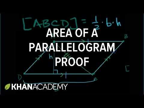 Parallelogram Proofs Worksheet as Well as area Of Parallelogram Proof Video
