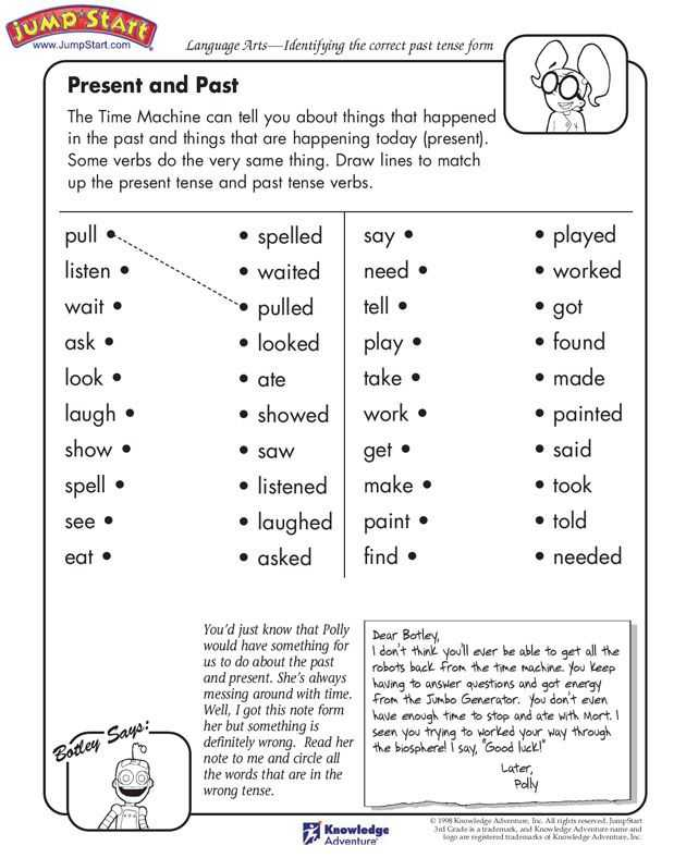 Past Tense Verbs Worksheets Also 131 Best Tenses Images On Pinterest