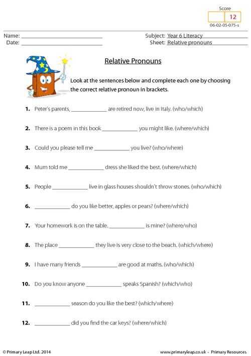Personal Pronouns Worksheet Along with Primaryleap Relative Pronouns Worksheet More Pinterest