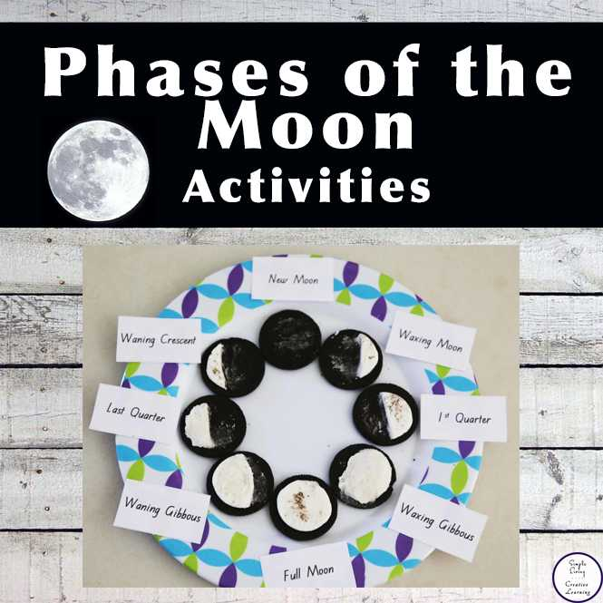 Phases Of the Moon Printable Worksheets Also Free Printable Phases Of the Moon Simple Living Creative Learning